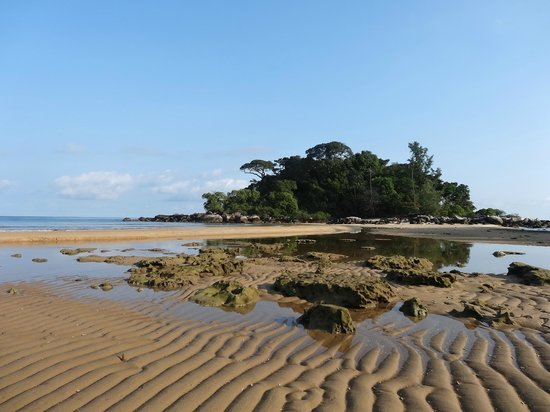Paya Beach Spa and Dive Resort: Low tide, the beach