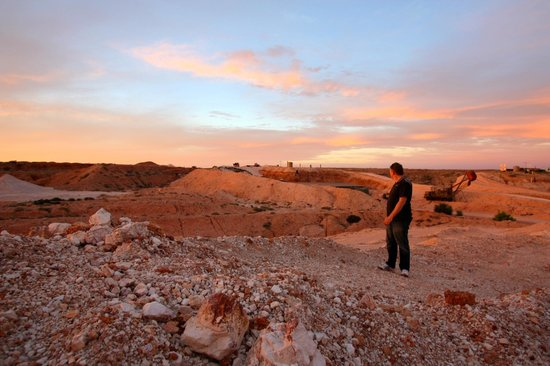 Coober Pedy, Australie : Sunset view from the B&B
