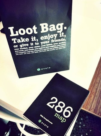 Ovolo Hotel - 286 Queen's Road Central, Central: free 'loot bag' and local area map