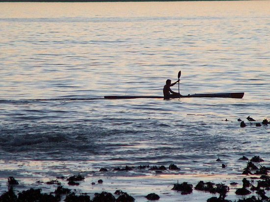Canoeist at Blouberg beach