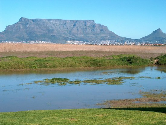 Blouberg, Güney Afrika: View of Table Mountain from the Rietvlei Nature Reserve