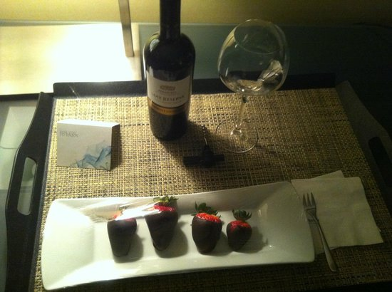 The Westin Calgary: Complementary treats delivered to my room!
