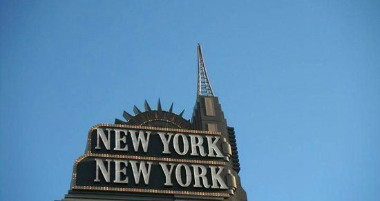 New York - New York Hotel and Casino: The Hotel Sign
