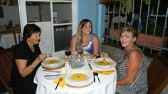 Palm Cove, Australia: the divine pumpkin and passion fruit soup