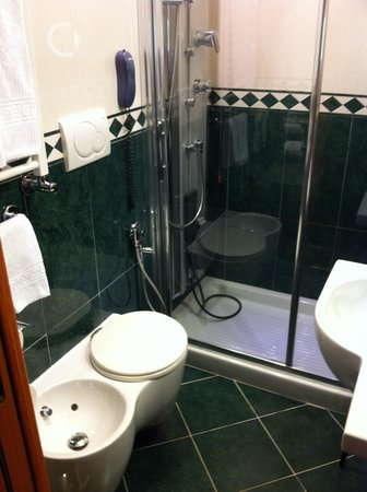 Hotel Manfredi Suite in Rome: Toilet sit very small