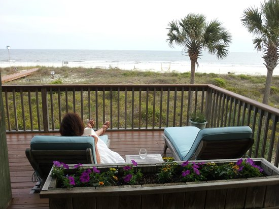 Turtle Beach Inn: View from the veranda