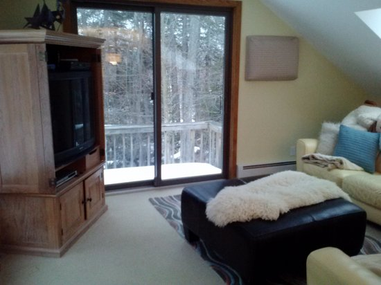 The Mountain Top Inn & Resort: Family room with tv