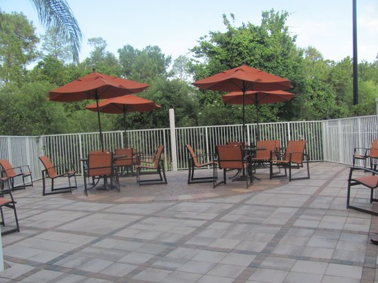 Comfort Suites Maingate East: Sitting area by the pool/pool bar