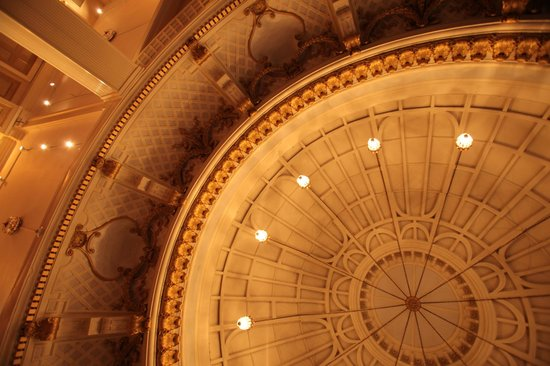 The Lenox Hotel: Our ballroom ceiling, the Dome Room
