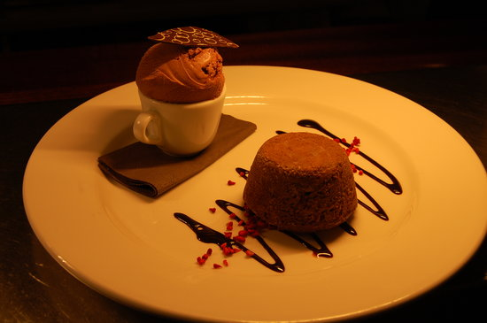 Glossop, UK: Chocolate Fondant