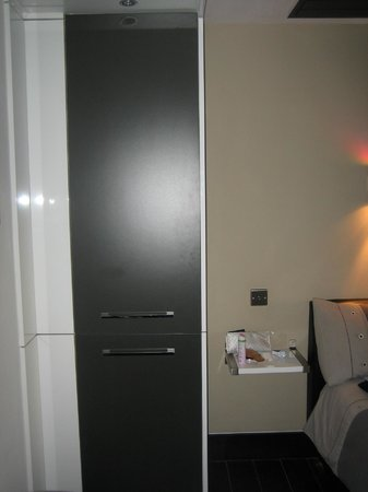Yewtree Cottage: Wardrobe with small fridge inside
