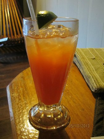 Portofino: The 1st Drink, Rum Punch is free!!