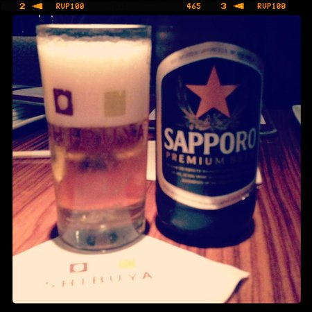 Shibuya: A nice cold beer to go with the sushi.