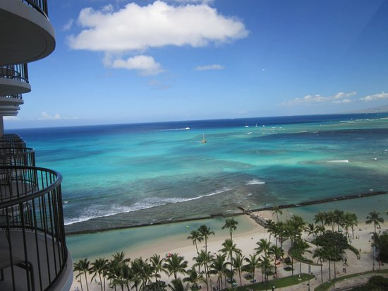 Waikiki Beach Marriott Resort & Spa: Lanai view from room 1921