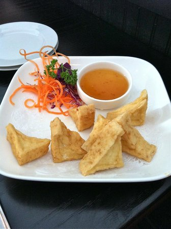 Martinsburg, Virginia Occidentale: Fried Tofu with a Duck Sauce.