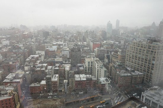 Trump SoHo New York : snow! 