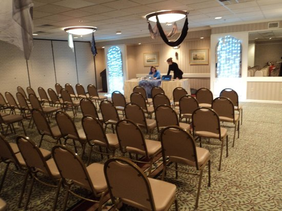 Laconia, NH: Conference room (decorations were for our con, but you can see how spacious it is)