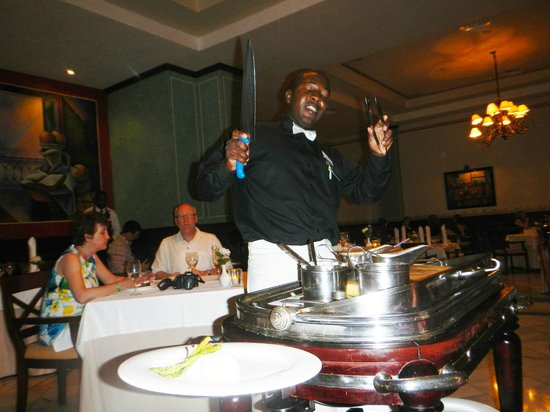 Grand Bahia Principe Jamaica: Our waiter Fitz at the Don Pablo