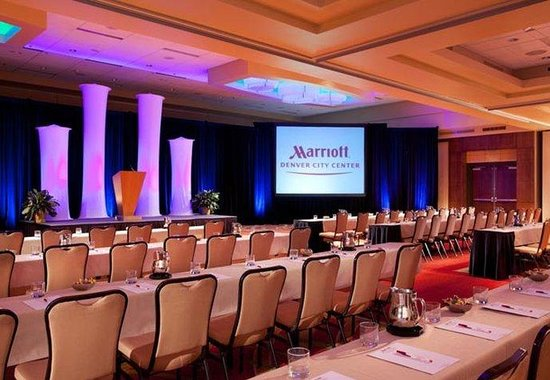 Denver Marriott City Center: Colorado Ballroom – Theater Style