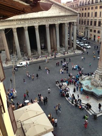 Albergo del Sole Al Pantheon: View from the window of our room
