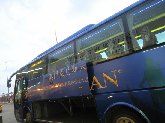 The Venetian Macao Resort Hotel: The shuttle bus