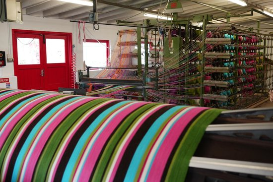 Avoca, Ireland: Weaving machine