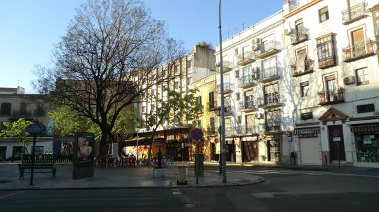 Hotel Don Paco: Plaza with Hotel frontage in background