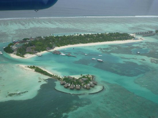 Kuredu Island Resort & Spa: wonderful scenery from seaplane ride ...