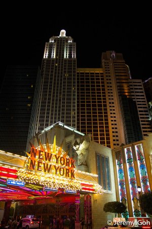 New York - New York Hotel and Casino: The Exterior of the hotel