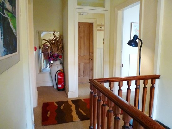 Harlech, UK : Top landing leading to room,4 and the twin