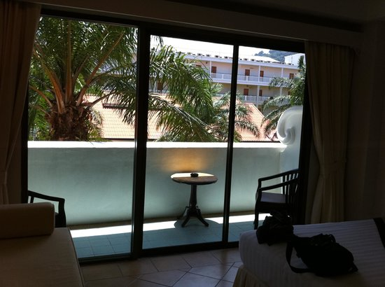 The Old Phuket: Balcony overlooking my current room.