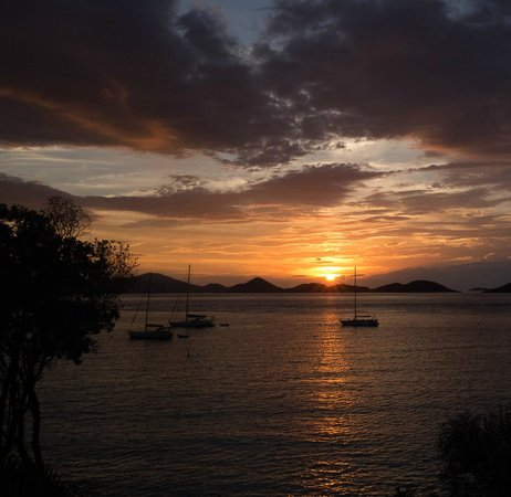Caneel Bay, A Rosewood Resort: Sunset from 7E