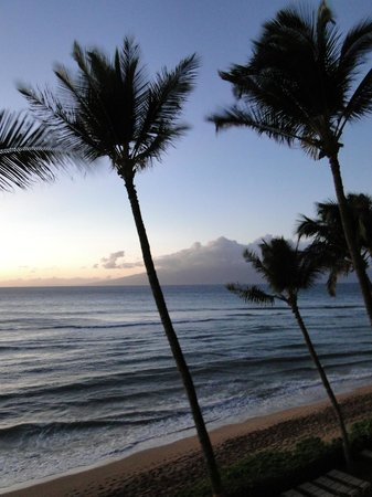 Aston Mahana at Kaanapali: View from our lanai; not using a zoom!