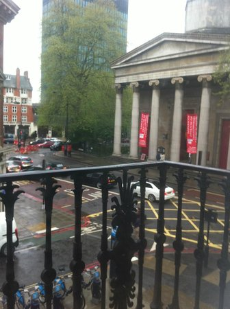 Hilton London Euston: View from a room on the 1st floor looking at St Pancras Church of England