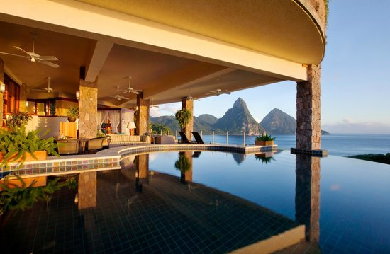 Jade Mountain Resort: Jase Mountain Infinity Pool Sanctuary ( Galaxy)