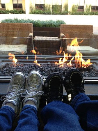 Sheraton Fisherman&#39;s Wharf Hotel: Fire pits were nice!