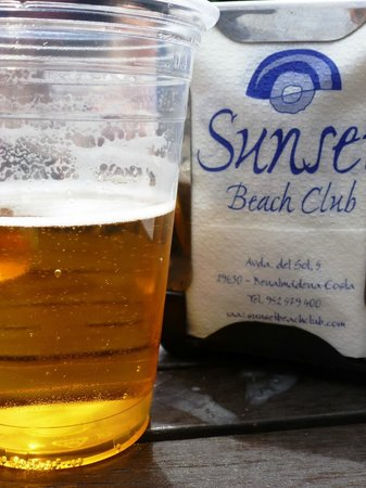 Sunset Beach Club: Thirst quencher