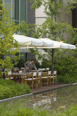 Hotel InterContinental Geneve : Woods outdoor patio