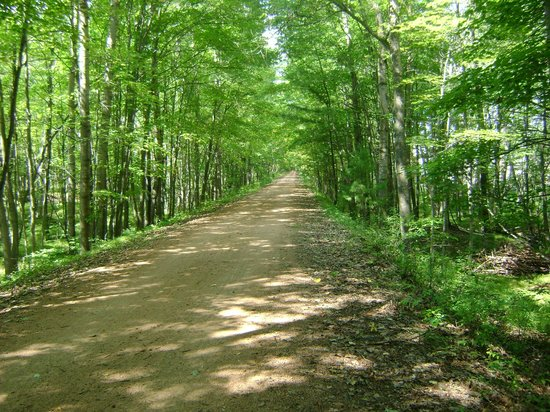 Tomahawk, Wisconsin: Bearskin bike trail, a local favorite