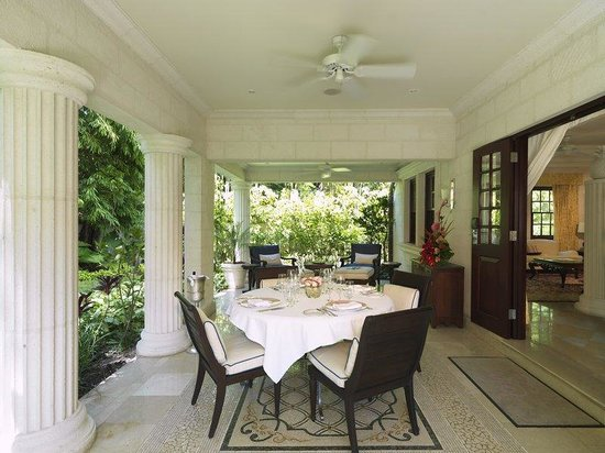 Sandy Lane Hotel: Villa Patio Outdoor Dining AH