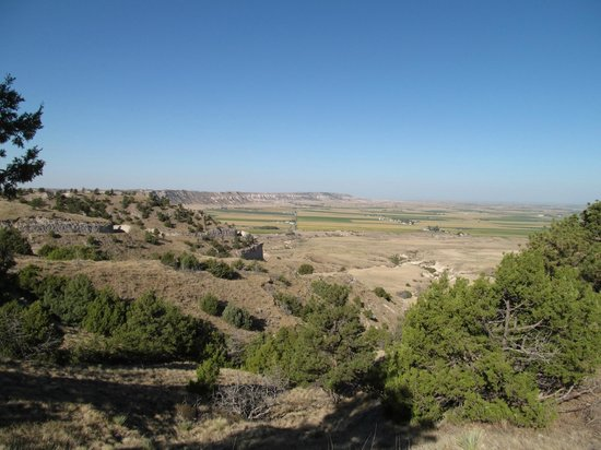 Gering, NE: View to West of Bluff