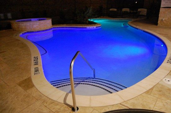 , : Outdoor Swimming Pool - Nighttime