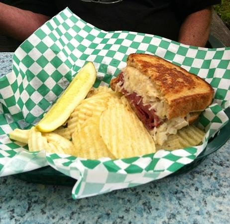 ‪‪Franklin‬, ‪North Carolina‬: The Reuben (half gone before I thought to take the pic!)‬