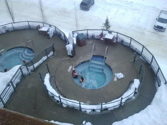 Sandpoint, ID: there is nothing better than a hot tub after skiing