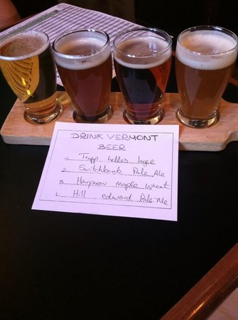 Waterbury, VT: Beer Sampler