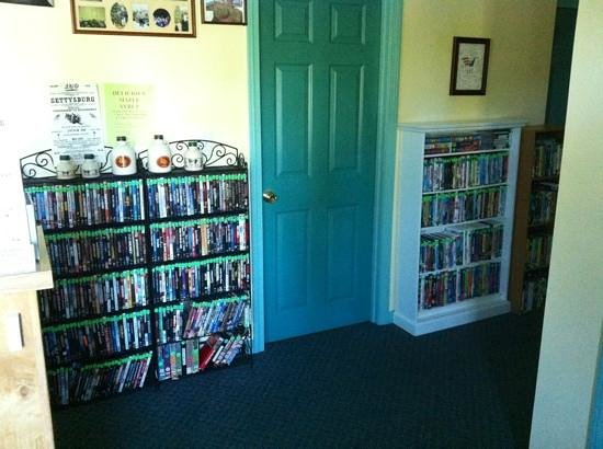 Evergreen Motel : movies you can barrow tons to choose from family friendly ones too