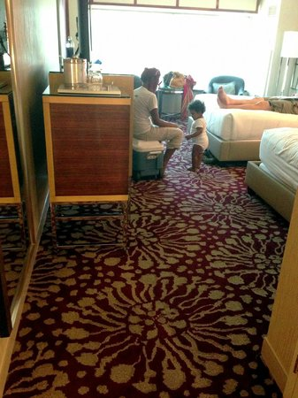 MGM Grand Hotel and Casino: The flooring in the room