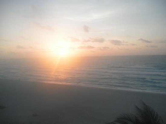 Sunrise from Oasis Cancun