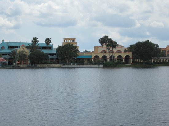 Disney's Coronado Springs Resort: El Centro from across the lake