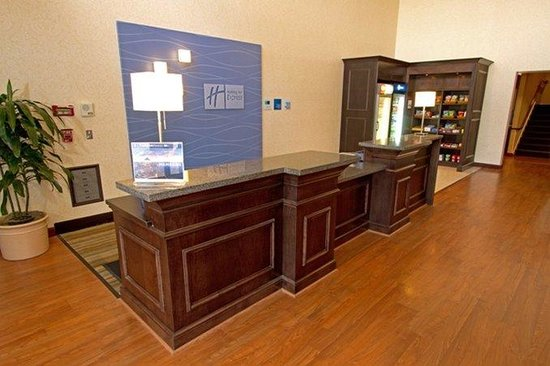 Front desk at new Holiday Inn Express Port Hueneme